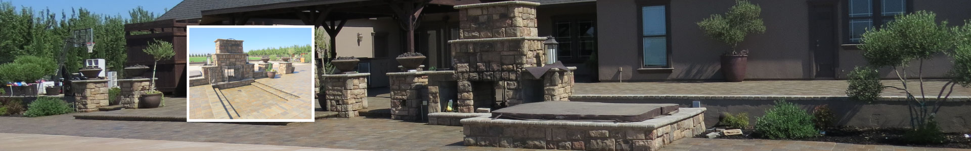 Beautiful tiles, stone, and fireplace construction