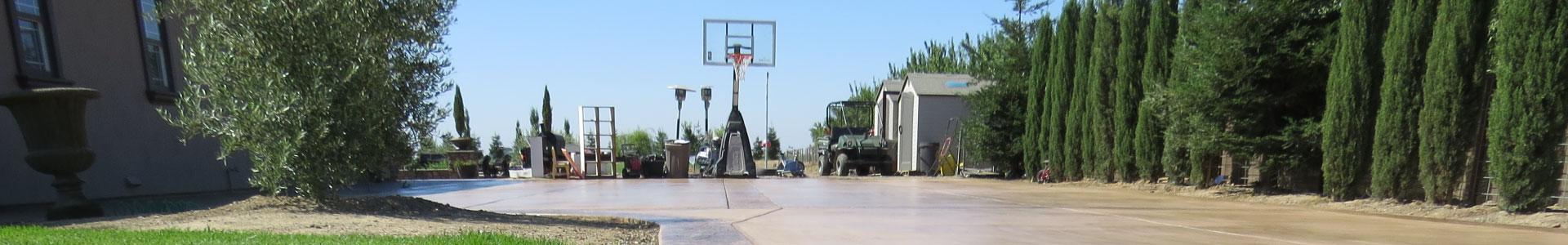 Concrete driveways, patios, and tennis courts